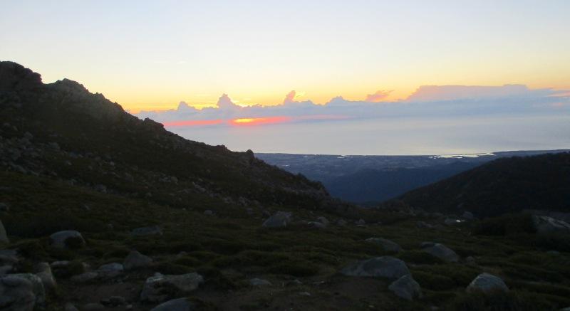 Восход над рефьюжем Prati. Утро 12-го дня.