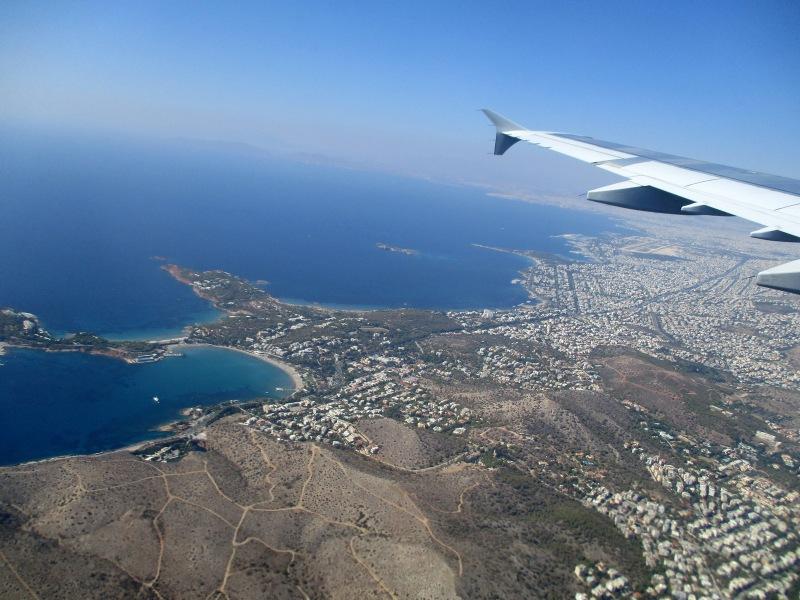 Афины с высоты полёта.